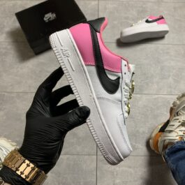 Nike Air Force Low White Pink (Белый Розовый)