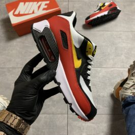 Nike Air Max 90 Red Yellow Swosh (Красный)