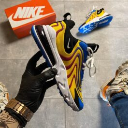 Nike Air Max 270 React Eng Yellow Blue (Жёлтый)