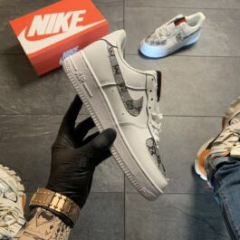 Кроссовки женские Nike Air Force 1 Low White Gucci Custom