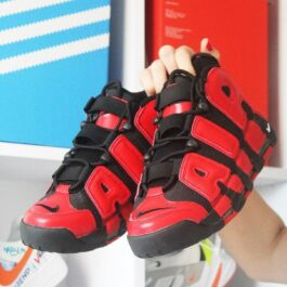Nike Air More Uptempo Red Black (Черный Красный)