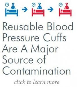 use disposable blood pressure cuffs
