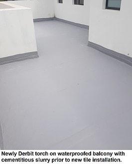 Balcony waterproofing preparation