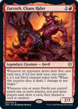 Zurzoth, Chaos Rider Top 10 Commander Cards Jumpstart