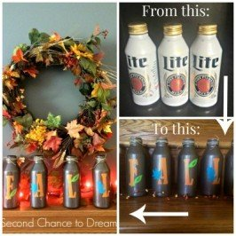 Second Chance to Dream: Fall Beer Bottle Upcycle
