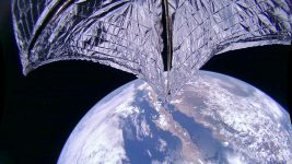 Image: LightSail 2 sail in space over California