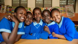 Image: Young people together in school