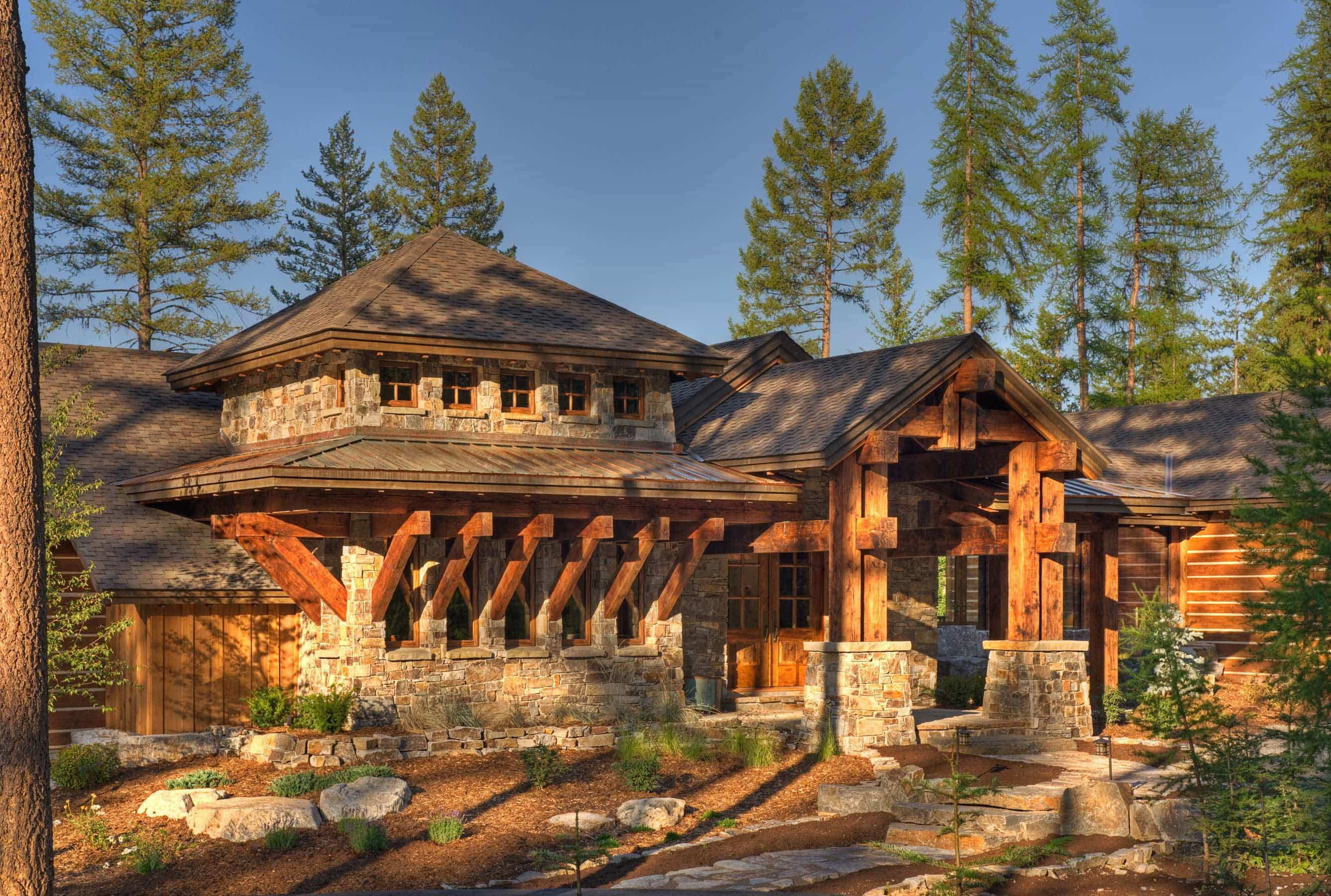 Big Sky architects designed home in Whitefish Montana by Stillwater Architecture