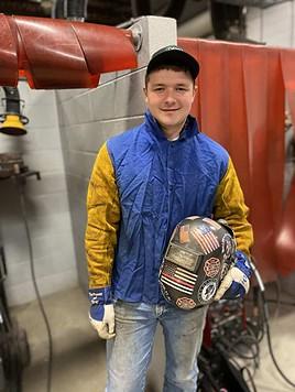 Seth Yeomans, OFTC welding student