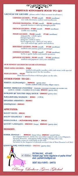 Take-Out Menu