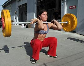 Olympic Style Barbell Front Squat