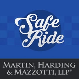 Safe Ride from Martin, Harding & Mazzotti 1800law1010 Graphic