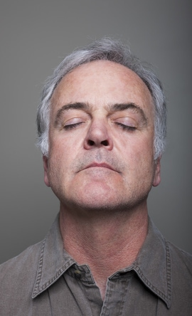 Mental calmness while meditating using a guided meditation.