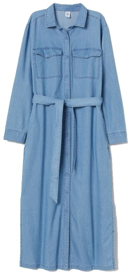 H&M denim shirtdress | 40plusstyle.com