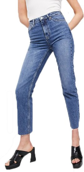 Topshop Tall straight jeans | 40plusstyle.com