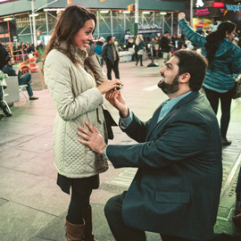 Times Square Marriage proposal