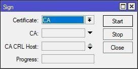 SSL CA Certificate Sign
