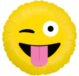 Bouquet De Ballons Livraison Ballon Surprise Rond Emoji clin d'œil - Smiley farfelue - 36593