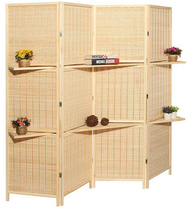 7. Deluxe Bamboo 4 Panel Divider Screen