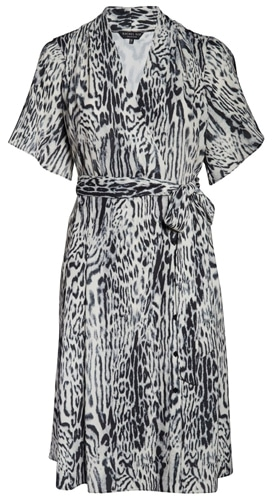Rachel Roy Collection animal print wrap dress | 40plusstyle.com