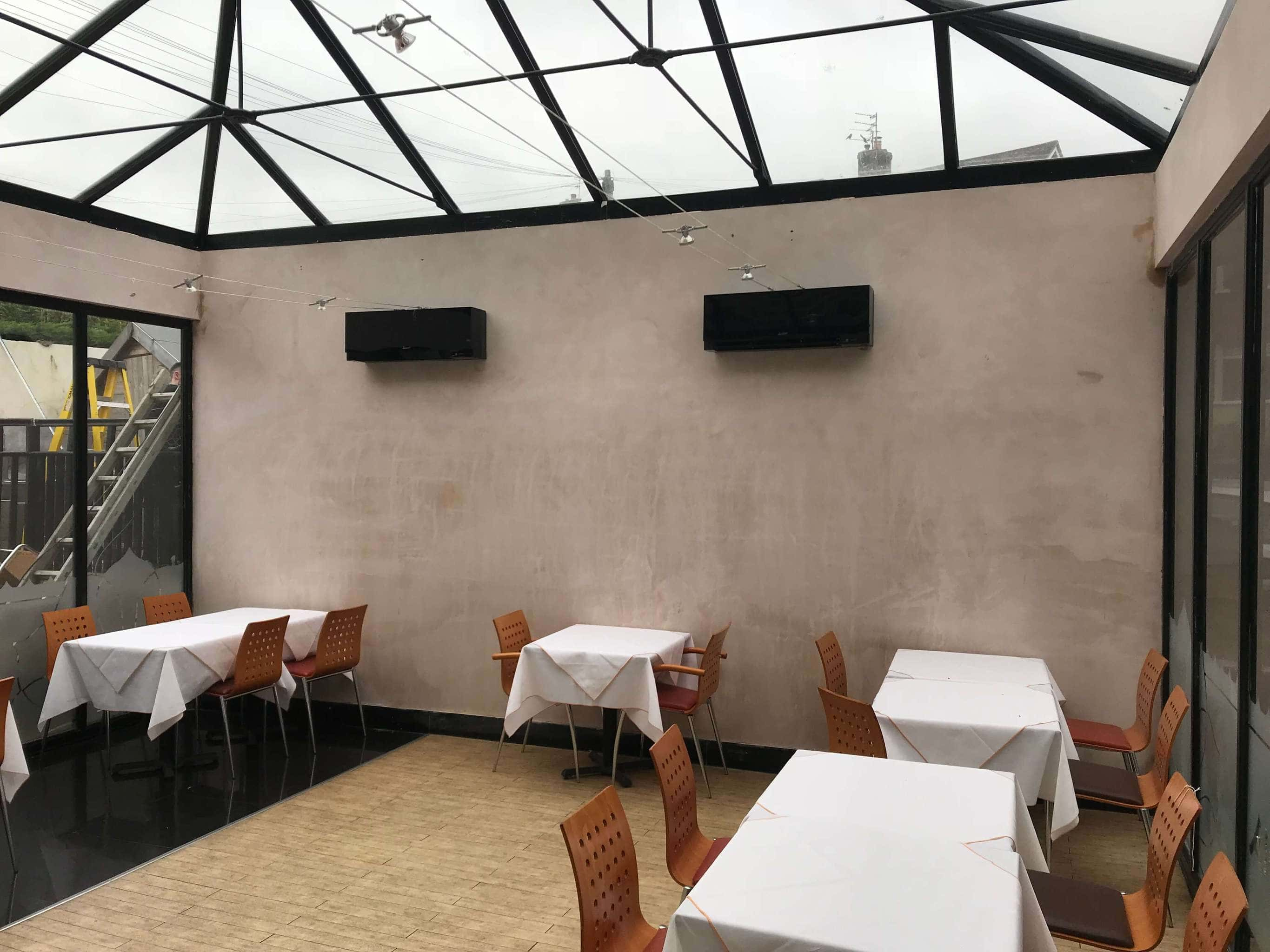 Commercial air conditioning in restaurant in Brighton