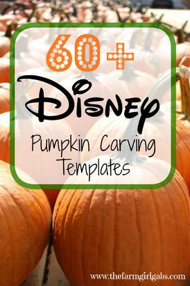 Over 60 Disney Pumpkin Carving Templates to create your pumpkin masterpiece this Halloween.