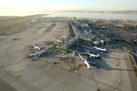 Marseille Provence airport seen from the sky