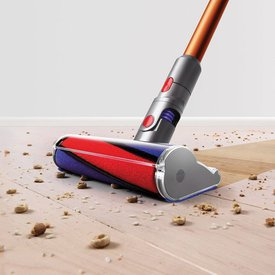 The Cyclone V10 Absolute Stick Vacuum Features A Soft Floor Brush That Is Designed To Clean