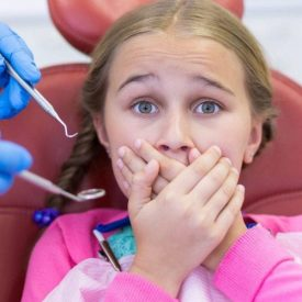 young patient with dental anxiety