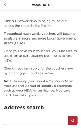 How to apply for NSW Dine & Discover