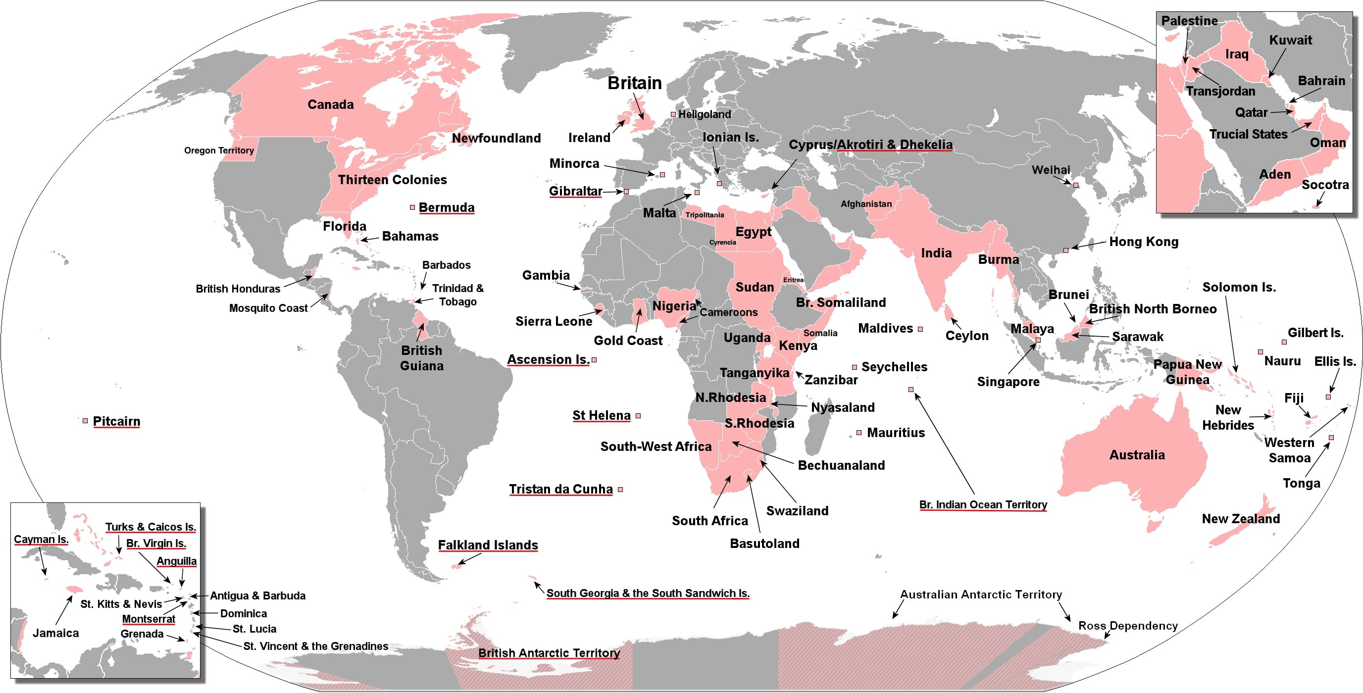 The British Empire at the height of rule, and how British DNA was spread around the world