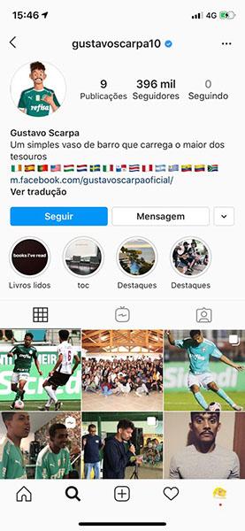 Instagram Gustavo Scarpa
