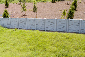 Permacast precast concrete fence - Permafence