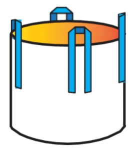 Square-form Circular bag