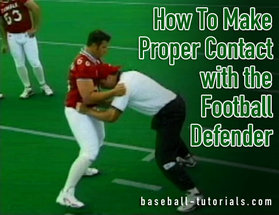contact with the football defender