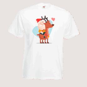 Друк на футболці Дід Мороз, Друк на футболках, чашці, кепці. Індивідуальний дизайн