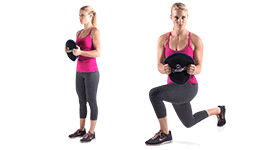 SandBell Exercises - Lunge Rotation