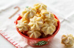 Orange Cream Star Cookies