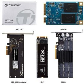 Compare Solid State Drive size, M.2 and form factors.