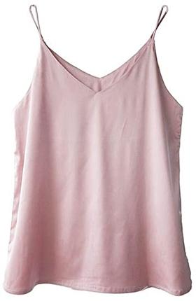 Wantschun satin V-neck camisole | 40plusstyle.com
