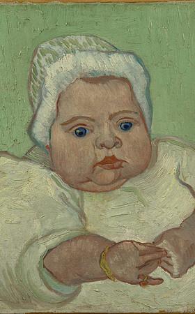 schilderij van Vincent van Gogh, Portret van Marcelle Roulin, december 1888, Van Gogh Museum, Amsterdam