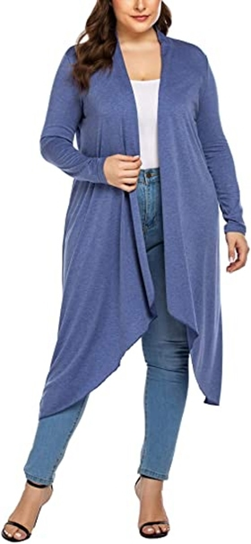 IN'VOLAND long drape cardigan | 40plusstyle.com