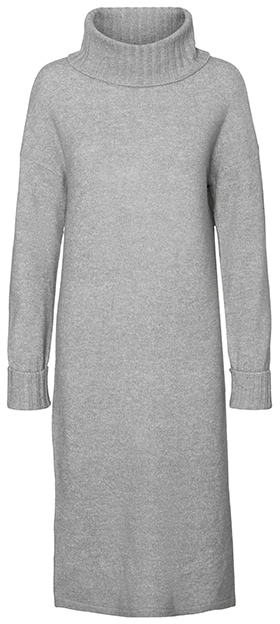 Warm winter dresses - VERO MODA turtleneck sweater dress | 40plusstyle.com