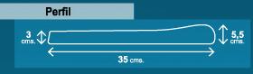 perfil de borde de piscina de 35cm