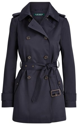 Lauren Ralph Lauren Water Repellent Trench Coat | 40plusstyle.com