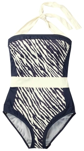 swimsuit for the rectangle shape body - choose prints | 40plusstyle.com