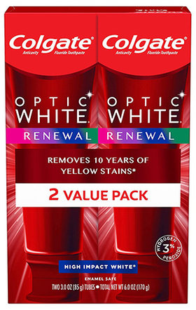 Colgate Optic White Renewal Teeth Whitening Toothpaste | 40plusstyle.com
