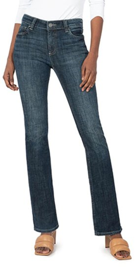 KUT from the Kloth Natalie mid rise bootcut jeans | 40plusstyle.com