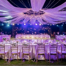 Dịch vụ cưới hỏi cho thuê thiết bị khung rap bàn ghế