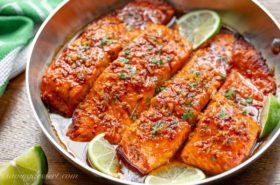 Spicy Honey Glazed Salmon Recipe
